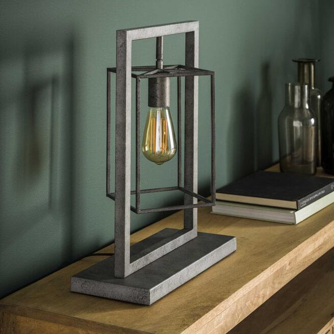 Tafellamp 'Cillian' kleur Oud Zilver