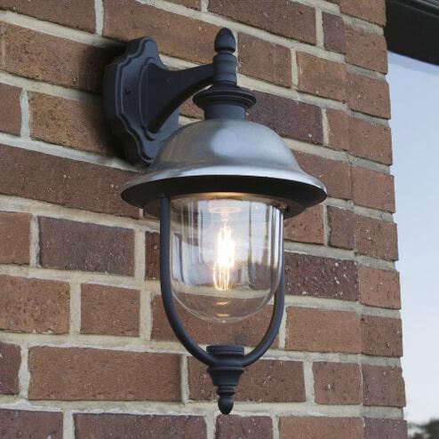 Buitenlamp 'Parma' Wandlamp, E27 / 230V, kleur geborsteld RVS