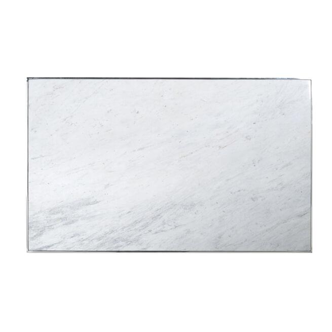 Richmond Salontafel 'Levanto' Wit Marmer en Staal, 130 x 80cm