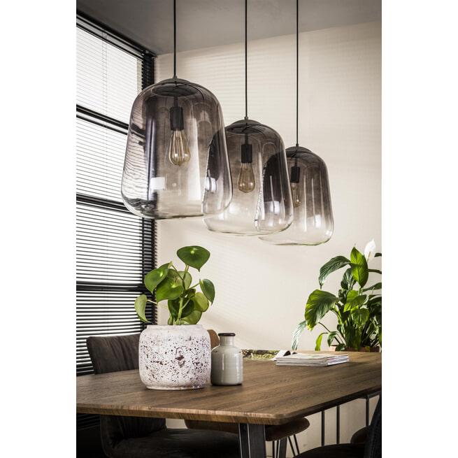 Glazen Hanglamp 'Gottfried' 3-lamps, Ø32cm