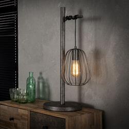 Tafellamp 'Rupert' lampion, oud zilver