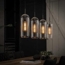 Glazen Hanglamp 'Ossie' 4-lamps