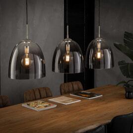 Glazen Hanglamp 'Misha' 3-lamps