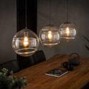 Glazen Hanglamp 'Delroy' 3-lamps