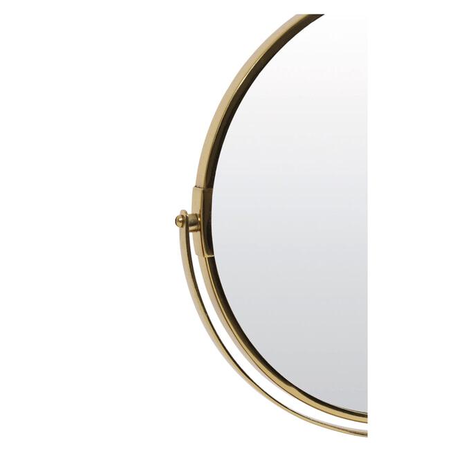 Light & Living Spiegel 'Riesco' op voet, marmer grijs-ant brons