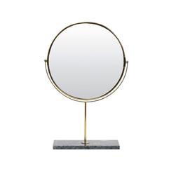 Light & Living Spiegel 'Riesco' op voet, marmer groen-goud