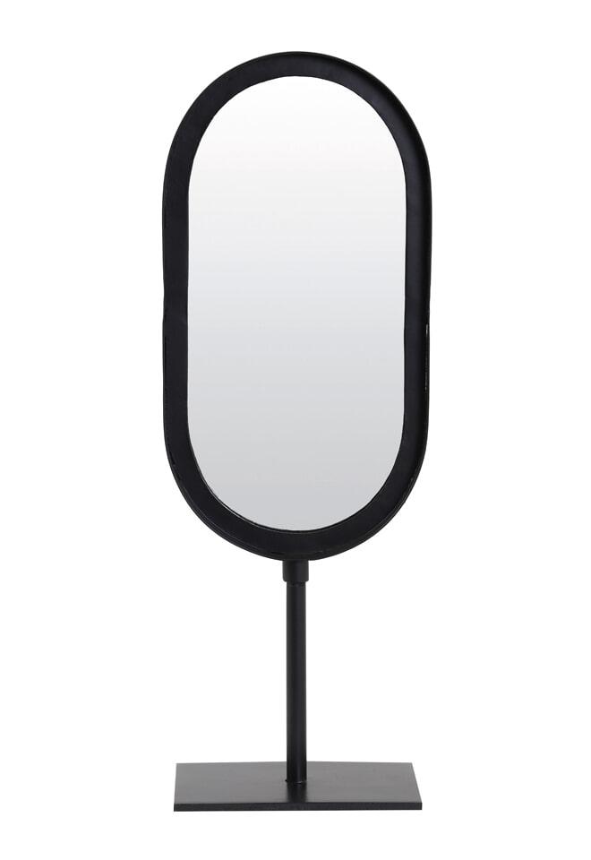 Light & Living Ovale Spiegel 'Lure' kleur Mat Zwart