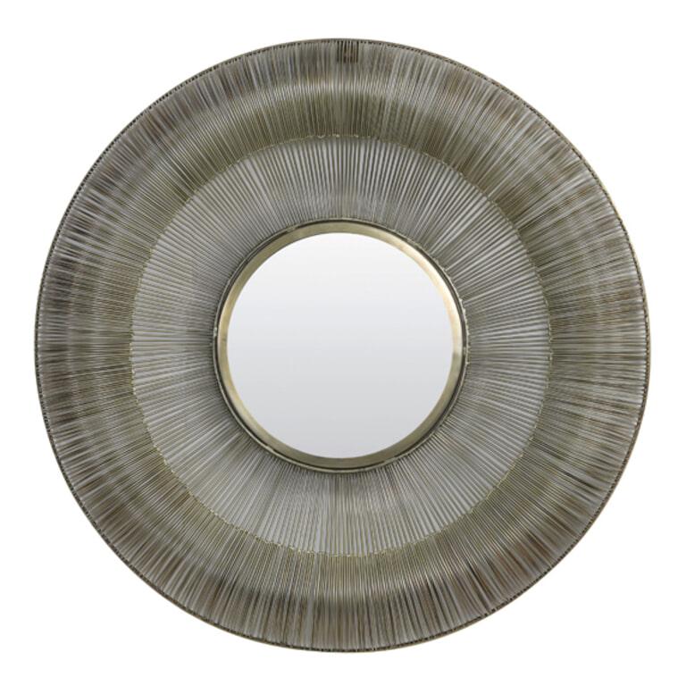 Light & Living Spiegel 'Towa' Ø101,5cm, kleur Antiek Brons