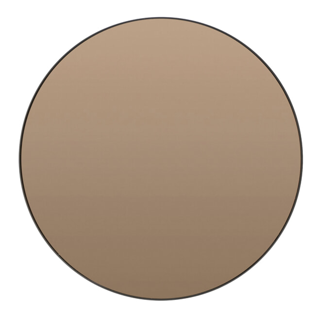 Light & Living Ronde Spiegel 'Espejo' kleur Bruin