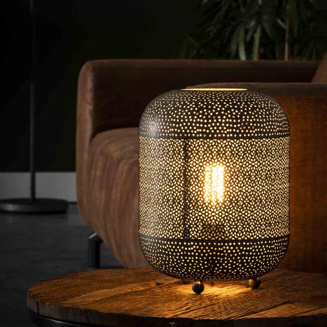 Tafellamp 'Vickie' Oud zilver