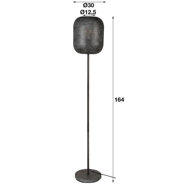 Vloerlamp 'Vickie' Oud zilver