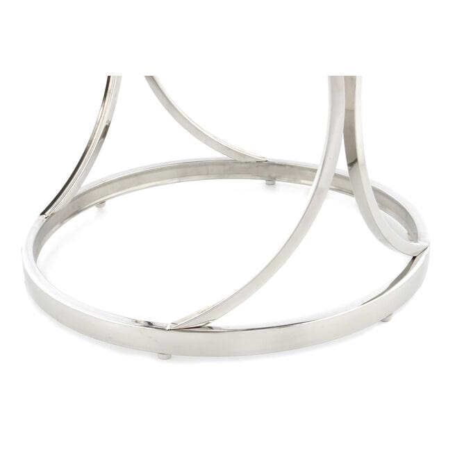 Kayoom Bijzettafel 'Weyda' 50cm, kleur zilver