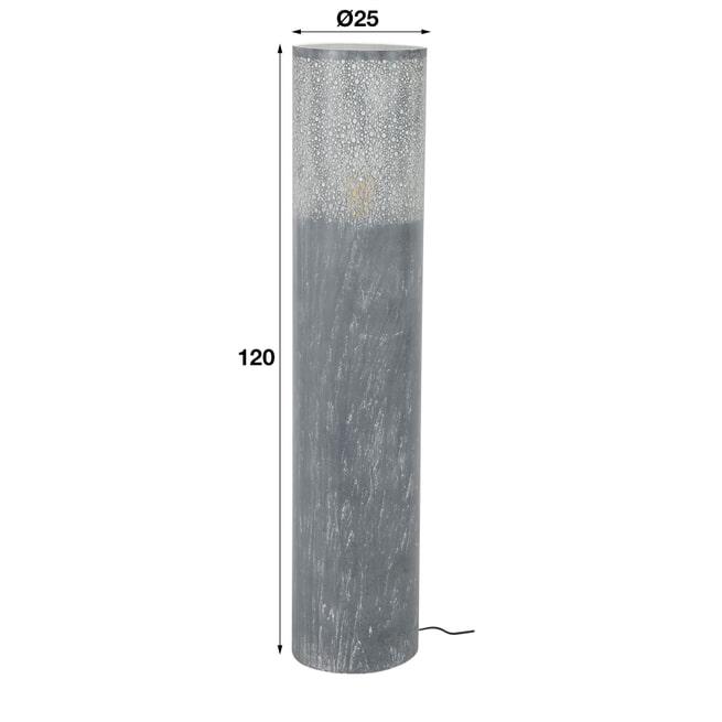 Vloerlamp 'Costas', Metaal, 120cm, kleur Grijs