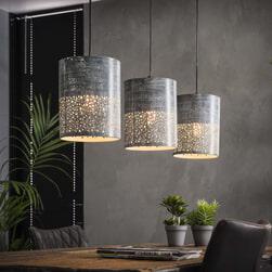 Hanglamp 'Sanaa', 3-lamps, 20cm, kleur Grijs