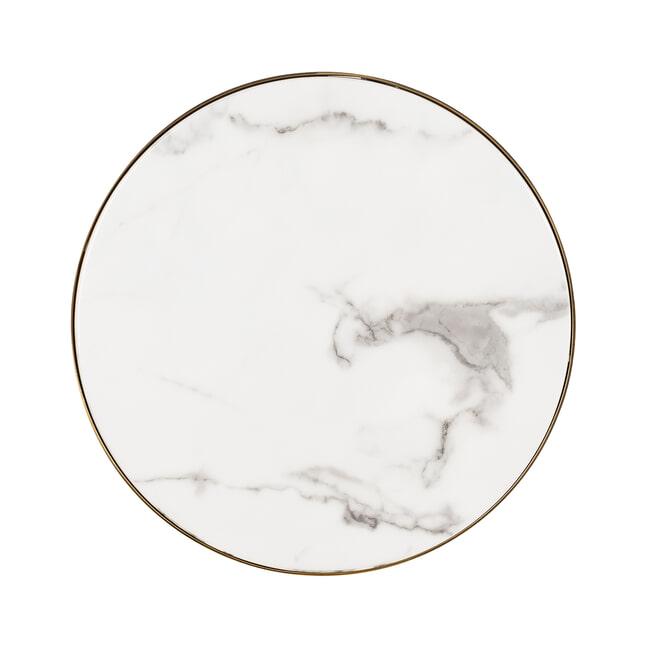 Richmond Bijzettafel 'Odin' Faux Marmer, Ø 45cm