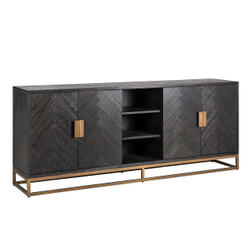 Richmond Dressoir 'Blackbone' Brass, 225cm