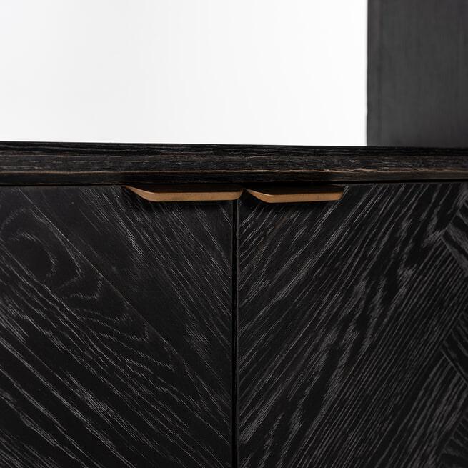 Richmond Boekenkast 'Blackbone' Brass, 220 x 100cm