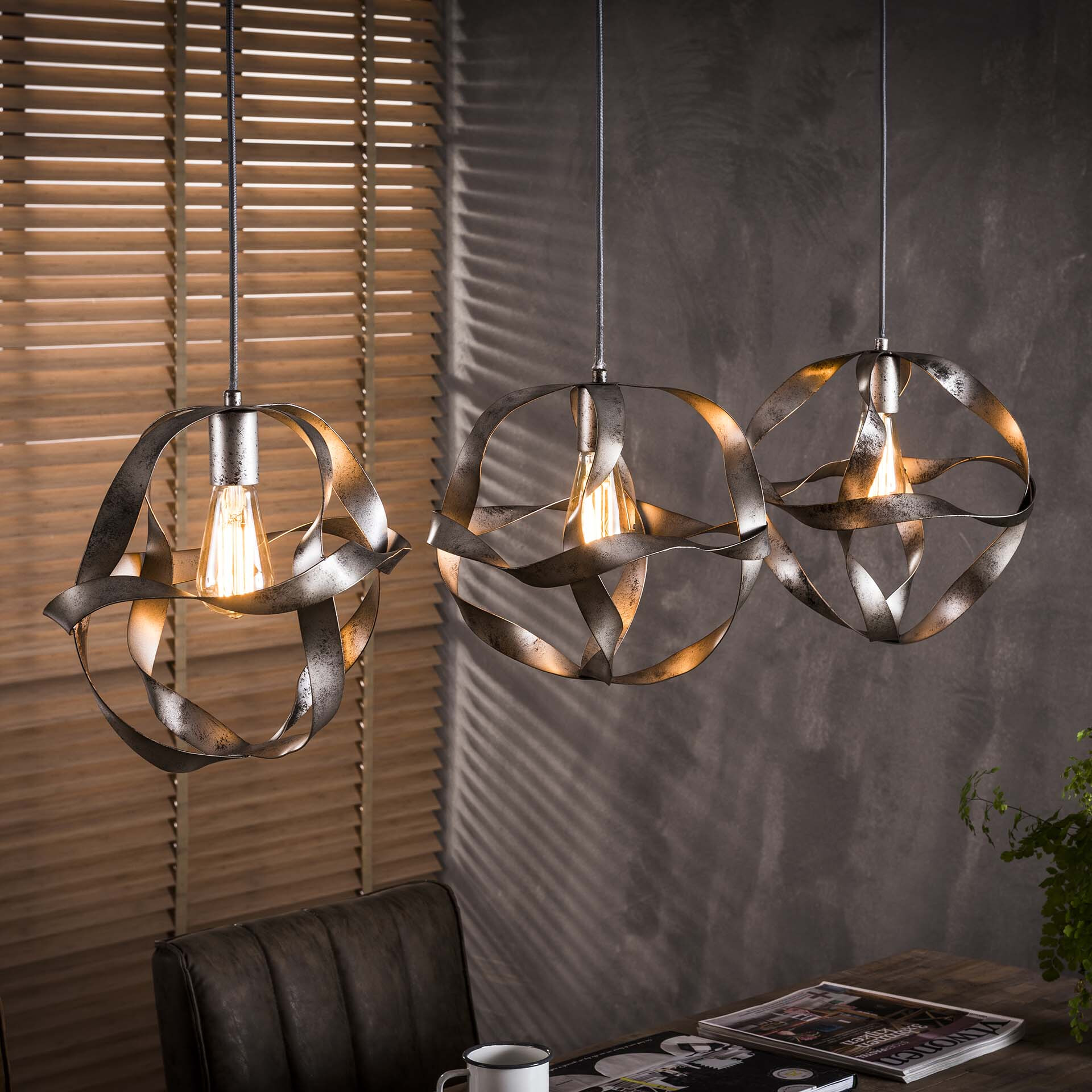 Hanglamp 'Laurence' 3-lamps