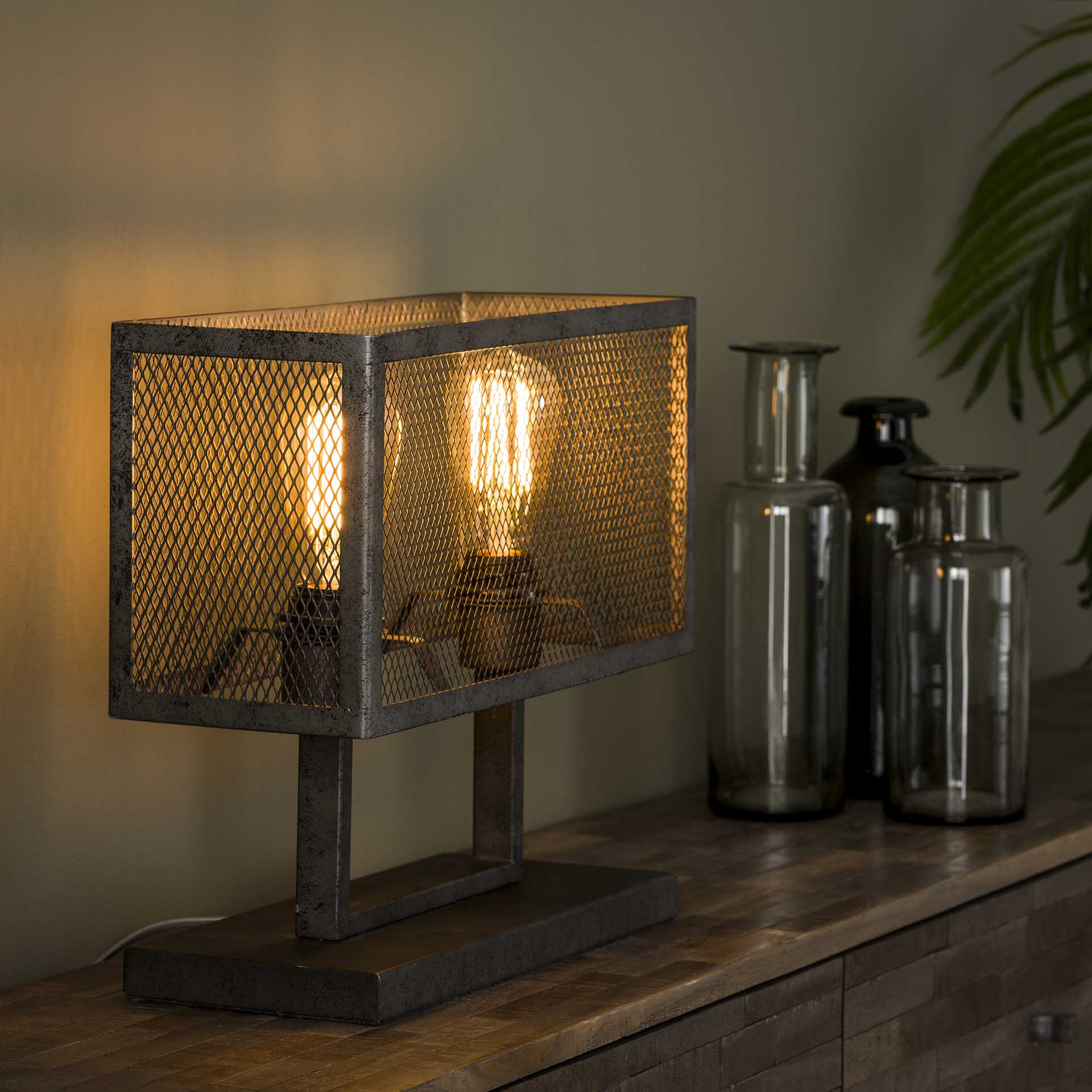 Industri�le Tafellamp 'Matt' 2-lamps