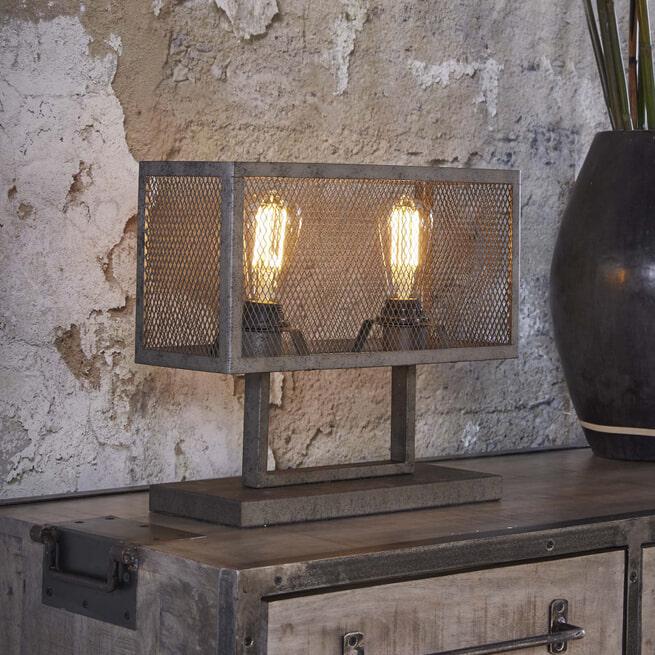 Industriële Tafellamp 'Matt' 2-lamps
