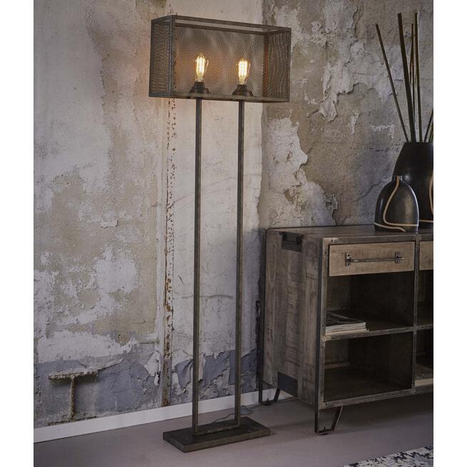 Industriële Vloerlamp 'Matt' 2-lamps