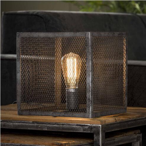 Industriële tafellamp 'Matt' 1-lamps 25 x 25cm