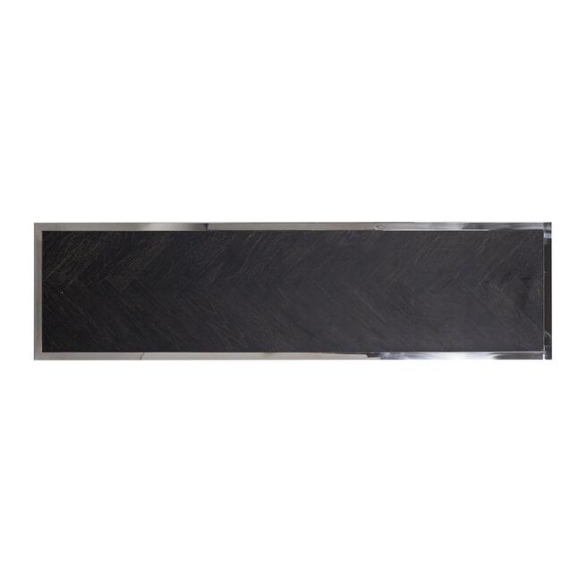 Richmond Sidetable 'Blackbone' Eikenhout en Staal, kleur Zwart / Zilver, 150cm