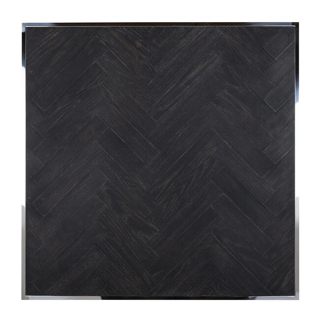 Richmond Salontafel 'Blackbone' Eikenhout en Staal, kleur Zwart / Zilver, 90 x 90cm