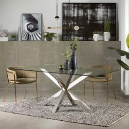Kave Home Eettafel 'Argo' Chroom