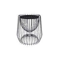 Kayoom Bijzettafel 'Malibu' Marmer en staal, kleur zwart