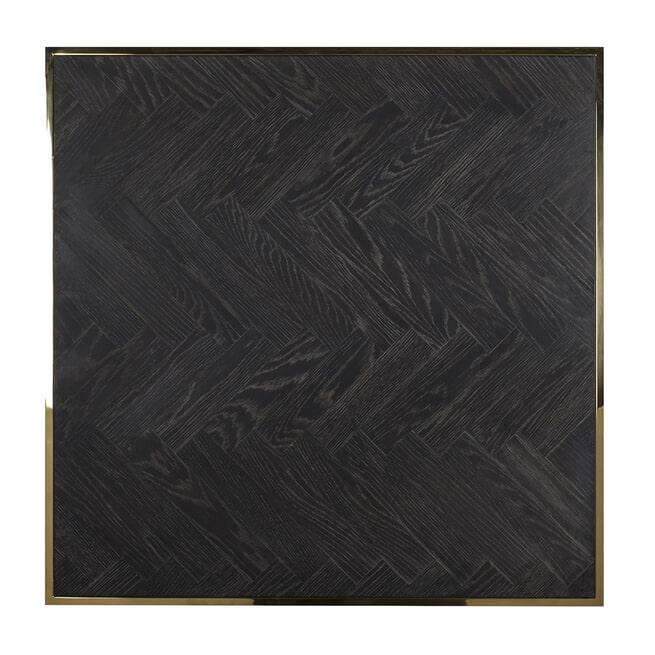 Richmond Salontafel 'Blackbone' Eikenhout en Staal, kleur Zwart / Goud 90 x 90cm