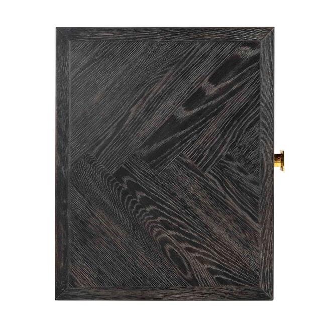 Richmond Nachtkastje 'Blackbone' Eiken, kleur Zwart / Goud