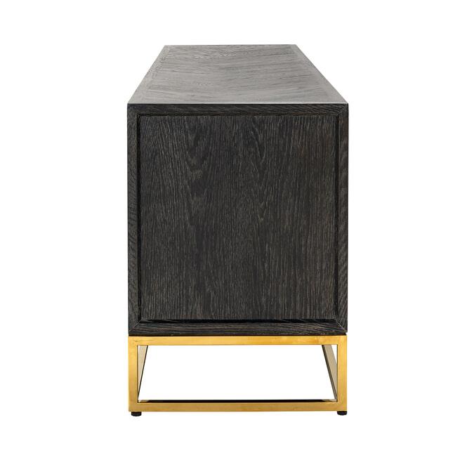 Richmond TV-meubel 'Blackbone' Eiken, kleur Zwart / Goud