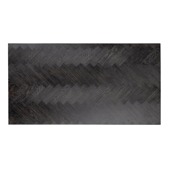 Richmond Salontafel 'Blackbone' Eiken, kleur Zwart / Goud, 150 x 80cm