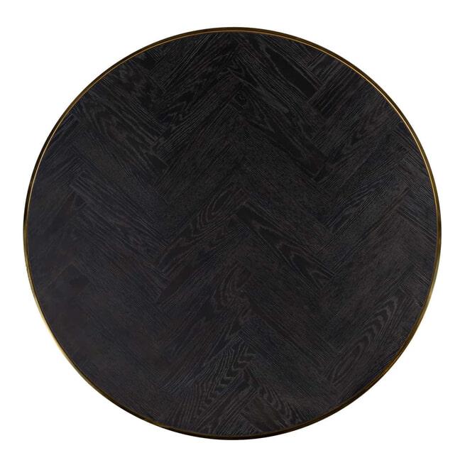 Richmond Salontafel 'Blackbone' Eiken en staal, kleur Zwart / Goud