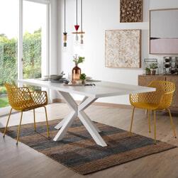 Kave Home Eettafel 'Argo' wit gelakt