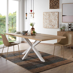 Kave Home Eettafel 'Argo' wit / hout