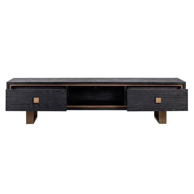 Richmond TV-meubel 'Hunter' Eiken, kleur Zwart / Goud, 190cm