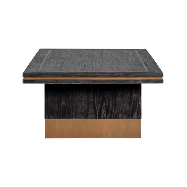 Richmond Salontafel 'Hunter' Eiken, kleur Zwart / Goud, 140 x 70cm