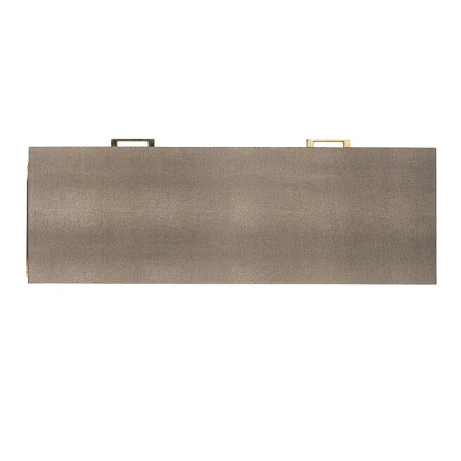 Richmond Sidetable 'Calesta' Shagreen look, kleur Goud, 110cm