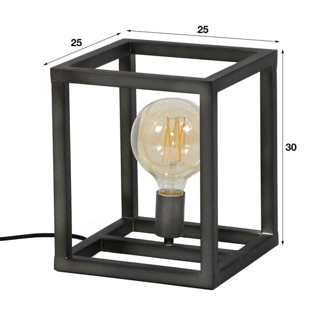 Tafellamp 'Tijmen' 25 x 25cm
