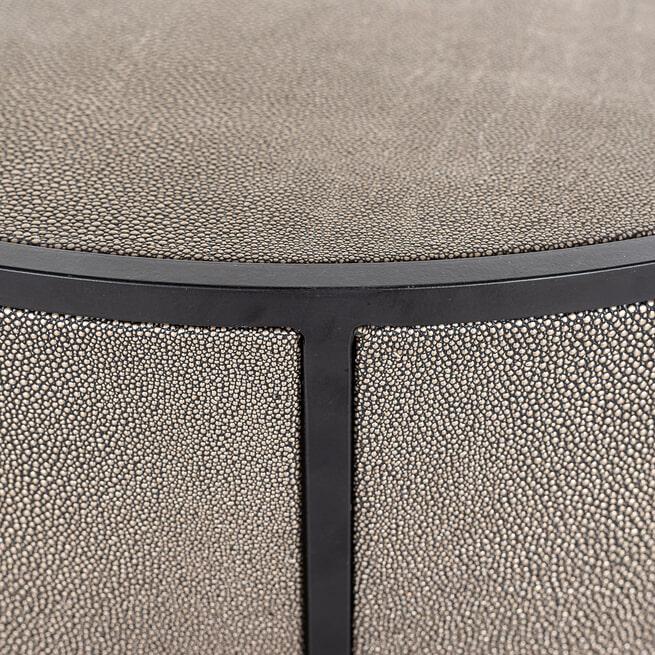 Richmond Ronde Bijzettafel 'Lustrio' Ø48cm, Shagreen look