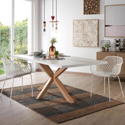 Kave Home Eettafel 'Argo' kleur Eiken/Wit