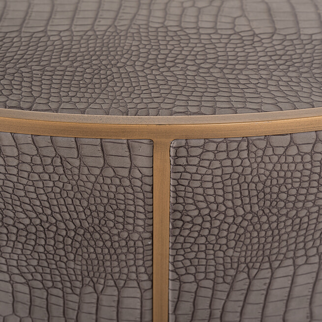 Richmond Salontafel 'Classio' Vegan Leather, Ø100cm