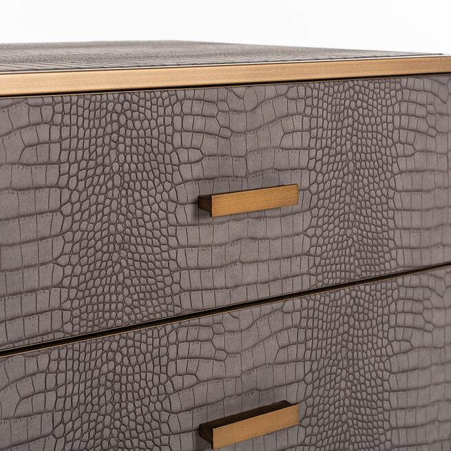 Richmond Nachtkastje 'Classio' Vegan Leather, 61 x 50cm