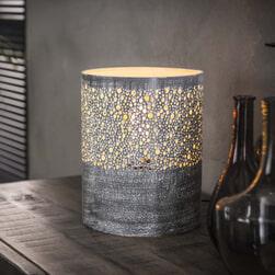 Tafellamp 'Mahershala', Metaal, 25cm, kleur Grijs