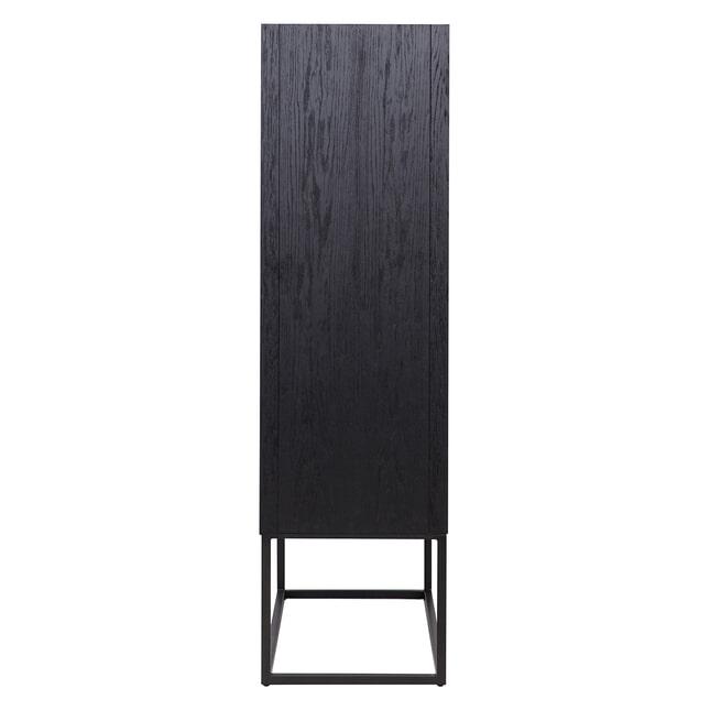 Richmond Opbergkast 'Blax' Eiken, kleur Zwart, 110 x 175cm