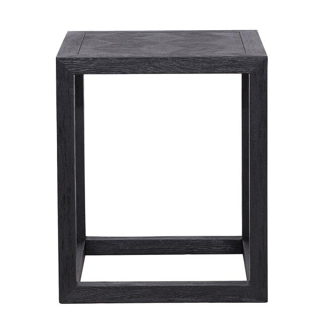Richmond Bijzettafel 'Blax' Eiken, kleur Zwart, 50 x 50cm