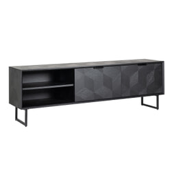 Richmond TV-meubel 'Blax' 180cm, Eikenhout en staal