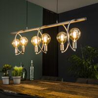 Hanglamp 'Cynthia' 6-lamps, Ø125cm, kleur Oud ZIlver